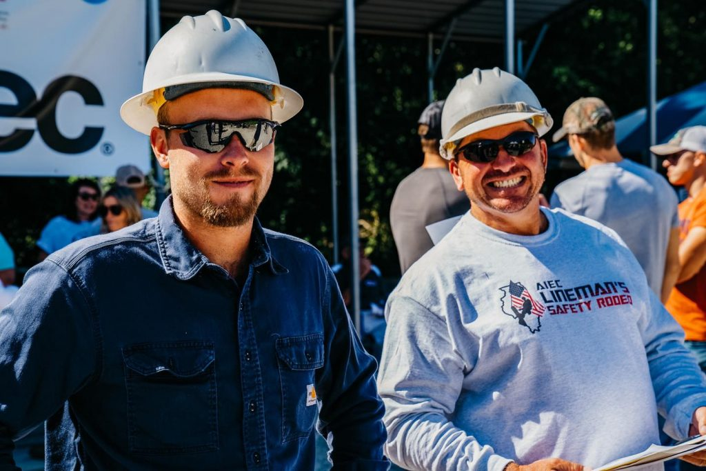 Aaron Rodhouse and Darren Hayn at the 2021 Lineman's Safety Rodeo